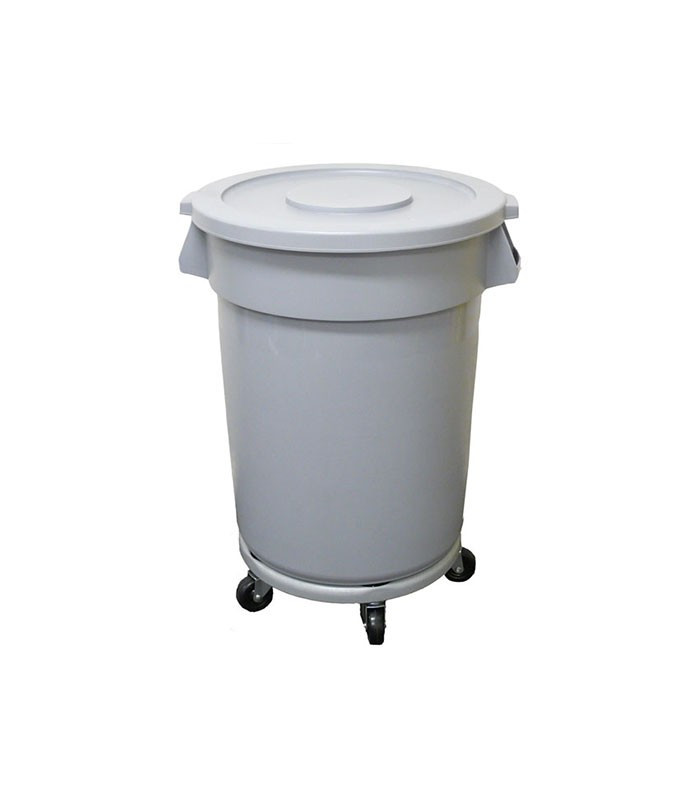L Heavy Duty Bin With Flat Top On Wheels
