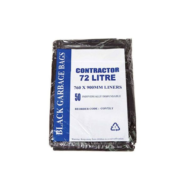 L Contractor Black Garbage Bags
