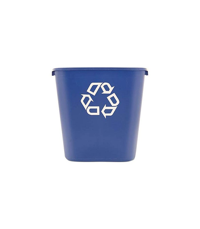 Blue Soft Waste Bin With Recycle Symbol L
