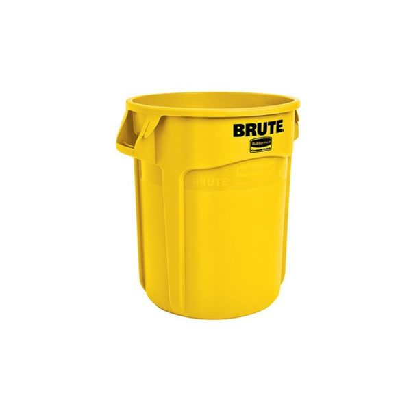 Brute L Rubbish Bin Yellow