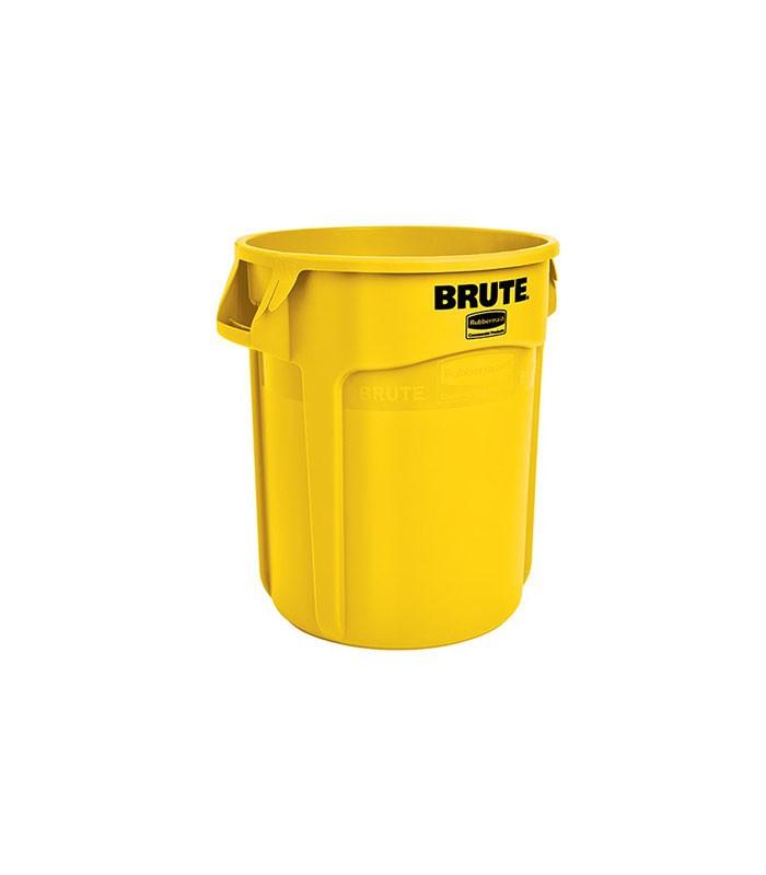 Brute L Rubbish Bin Yellow