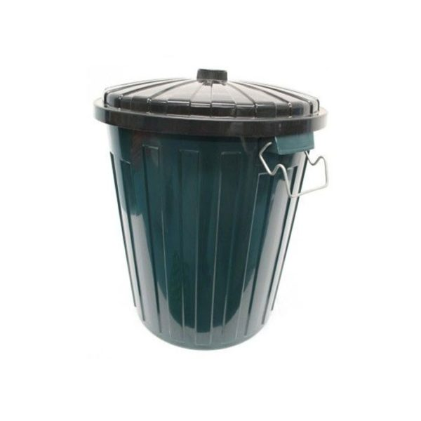 Edco L Garbage Bin Green With Lid