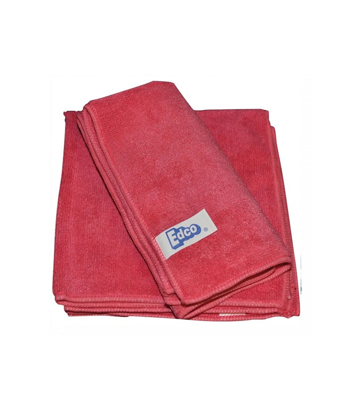 Edco Microfibre Cloth  Pack Red