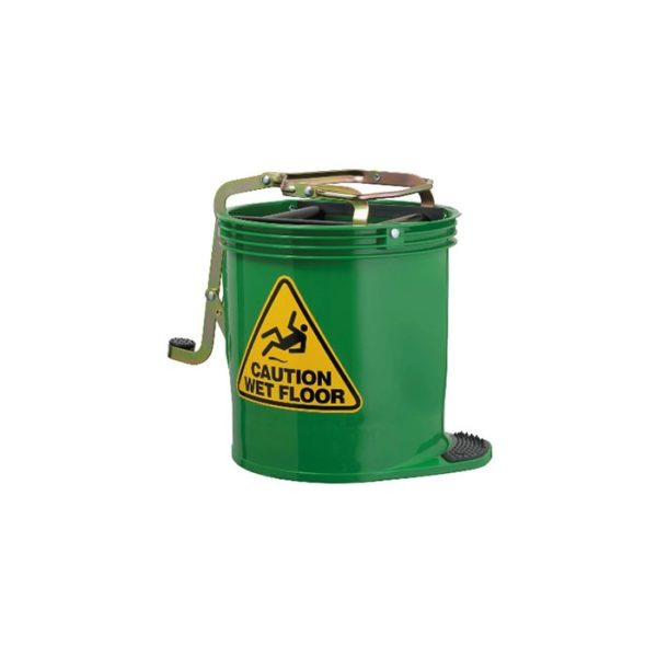 Oates Contractor Mop Bucket Green With Castors