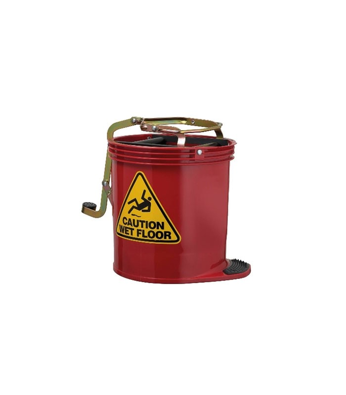 Oates Contractor Mop Bucket Red With Castor