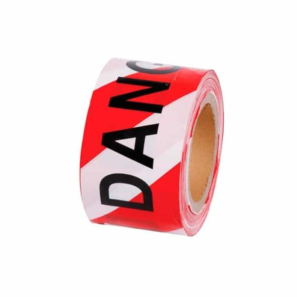 Barrier Tape Danger Red White