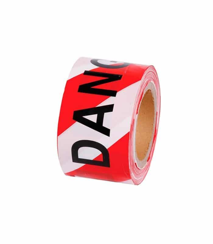 Barrier Tape Danger Red White