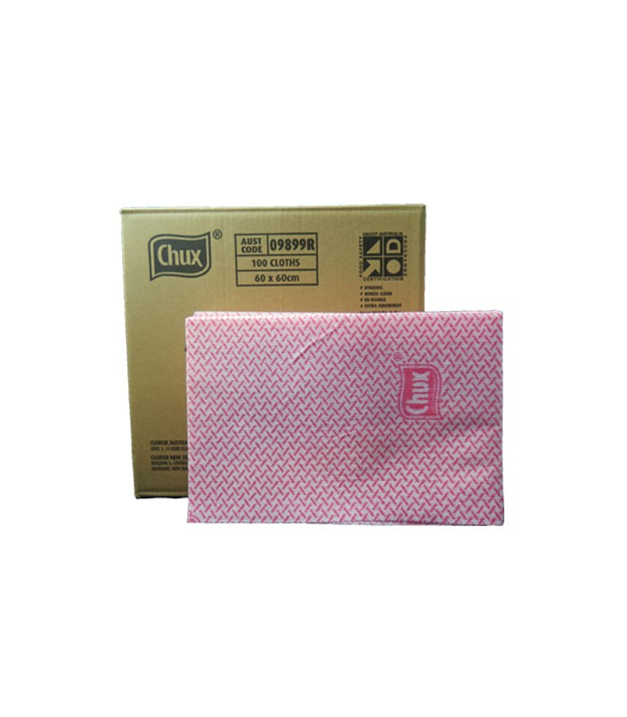 Chux Heavy Duty Wiping Cloths Red