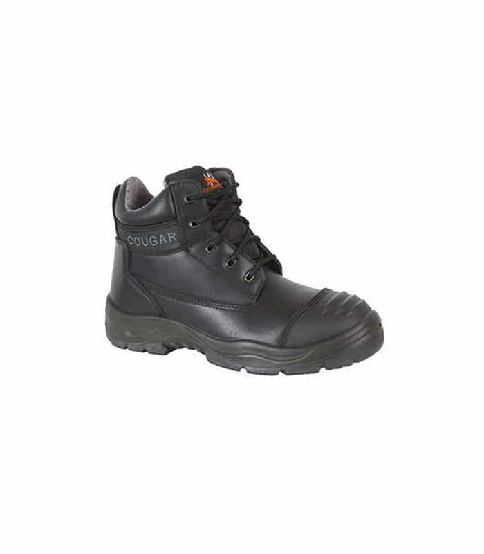 Cougar Safety Lace Up Boots Black