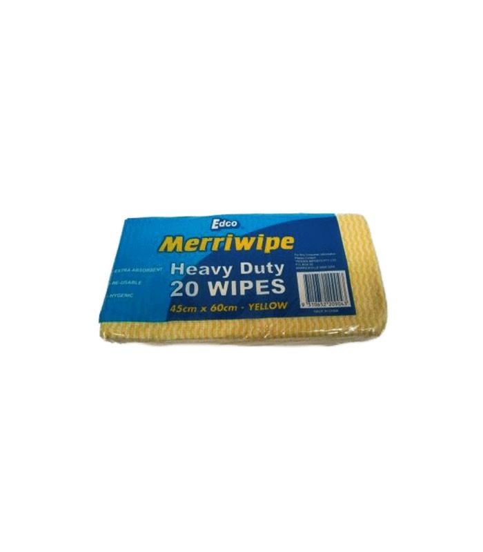 Edco Heavy Duty Wipes X   X Cm Yellow
