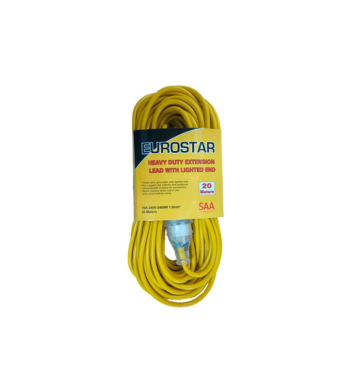 Extension Lead M Amp  Core With Light Yellow Eurostar
