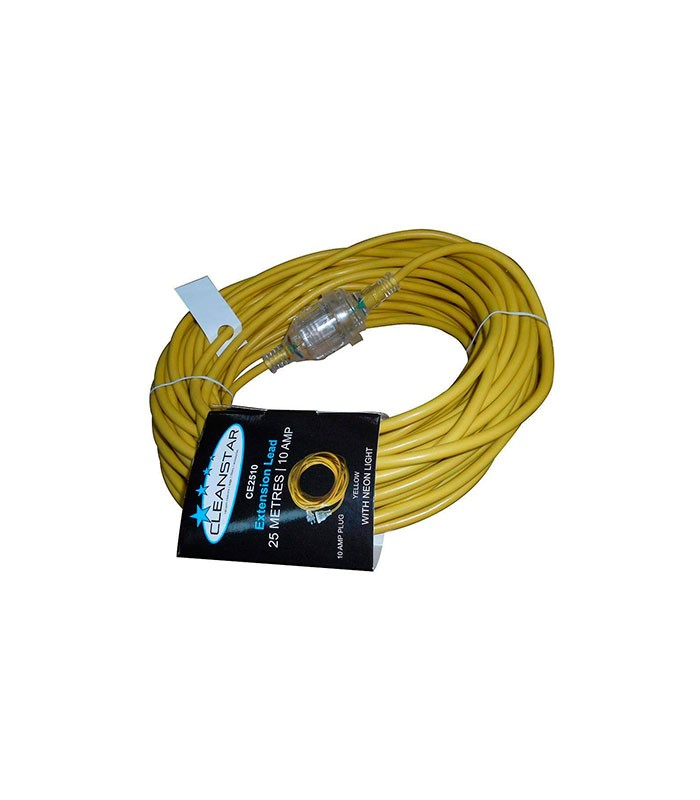 Extension Lead Yellow With Neon Light M Cleanstar