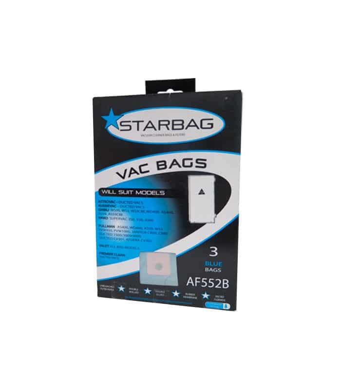 Starbag Blue Pack For Most Ducted Vacuum Cleaners AfB