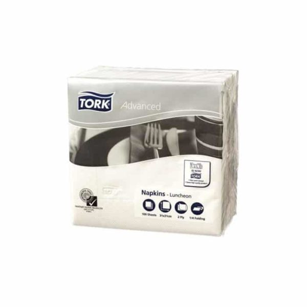 Tork Advanced  Ply White Luncheon Napkins