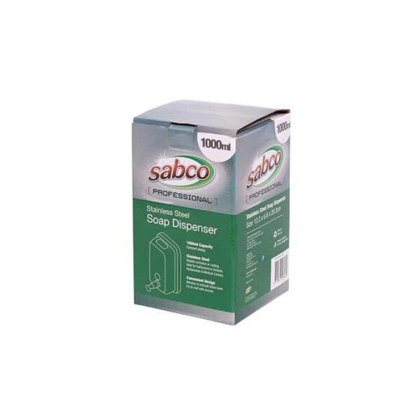 Sabco 1000ml Stainless Steel Soap Dispenser Pack